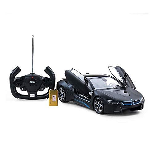 Pkjskh Jungen-Mädchen-Elektro-Antrieb-Rennen Kinder Spielzeug-Batterie angetriebene Auto-Fernbedienung RC 01.14 Konzept Schwarz Radiosteuerauto-Modell