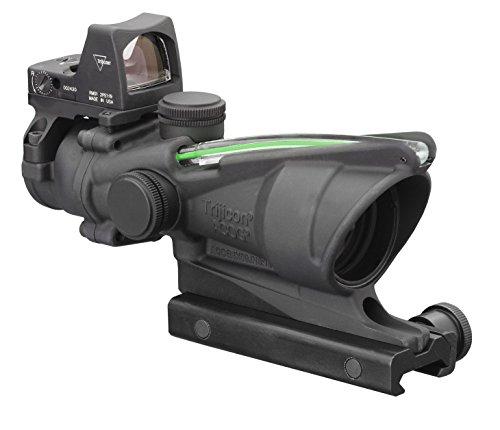 Trijicon 4x32mm ACOG Dual Illumination Green Crosshair .223 Reticle with 3.25 MOA RMR Sight Black Optics