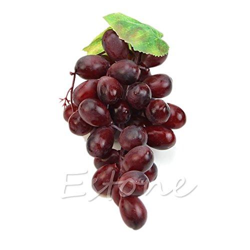 Kofun realista Artificial uvas de plástico artificial Frutas Alimentos Decoración del hogar...