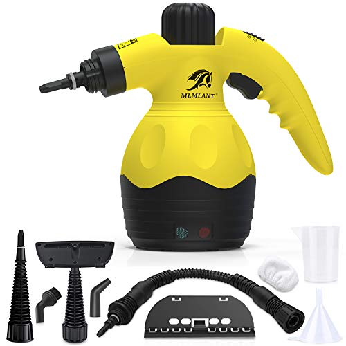 Check Out This MLMLANT Handheld Pressurized Steam Cleaner with -9 Piece Accessory Set - Multi-Purpos...