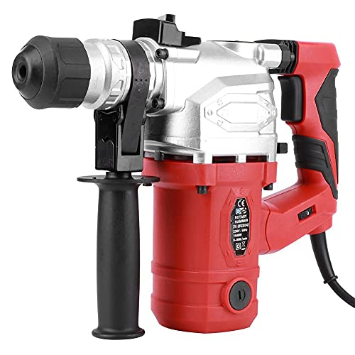 Jamitey SDS Hammer Drill,1500W 0-4250Bpm Electric Drill with 3 Function and 360°Adjustable Handle Corded for Wood, Masonry, Concrete and Steel, Practical