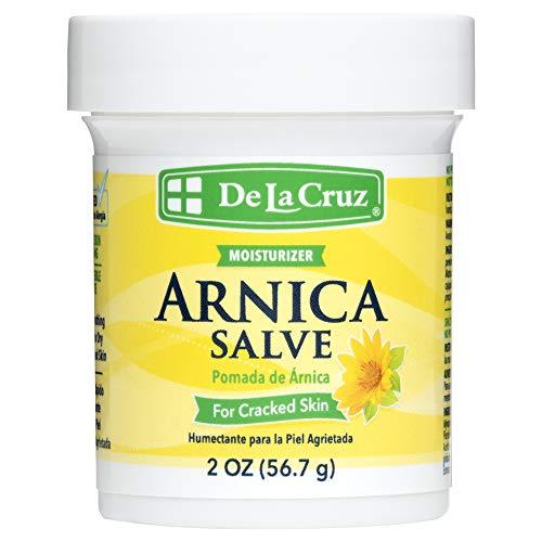 De La Cruz Arnica Salve for Cracked Skin, No Preservatives, Artificial Colors or Fragrances, Allergy-Tested, Made in USA 2 OZ (12 Pack)
