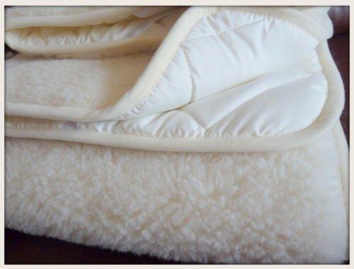 King Manta/Sábana 160 x 200 cm de Lana Merina Básica Protector de colchón 160 x 200 cm Certificada por Woolmark. Muy Suave y Confortable. King Sábana 160 X 200 CM