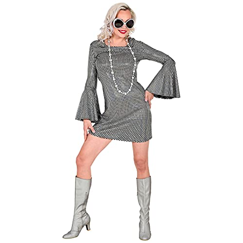 WIDMANN 48783 48783 - Disfraz de adulto de The 70s Groovy Style, vestido de discoteca, hippie, aos 70, fiesta temtica, carnaval, mujer, multicolor, L