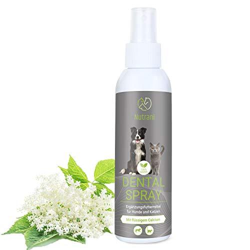 Nutrani Dentalspray für Hunde und Katzen | 150 ml – mit flüssigem Calcium zur Stärkung der Zähne und Mineralien zur Unterstützung der Zahnpflege, Zahnreinigung und bei Mundgeruch