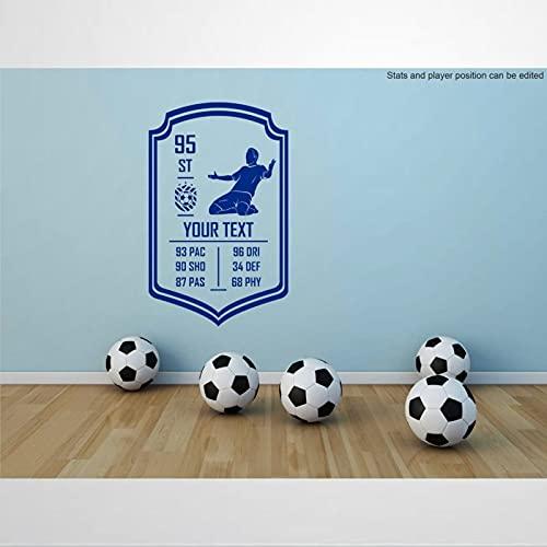 Adhesivo personalizable para pared, diseño de jugador de fútbol