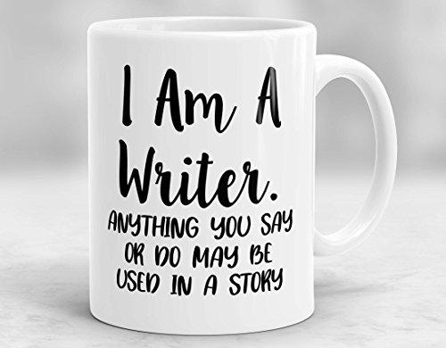 Taza para escritor, regalo para escritor, regalo para escritor, regalo de autor, regalo para autor, periodista, regalo, cerámica, 1 color, 0,3 l