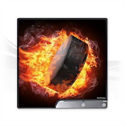 DeinDesign Skin kompatibel mit Sony Playstation 3 Slim CECH-2000-3000 Folie Sticker Eishockey Feuer
