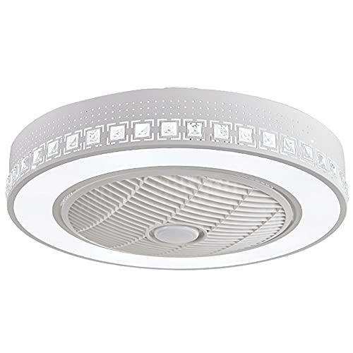 WXH-00 Lámpara Techo Embedded Techo Ventilador Lámpara Iluminación Ventilador Lámpara Ventilador Regulable Ultra Velocidad Decoración del hogar Dormitorio Chandelier [Clase energía A] (Color : 220v)