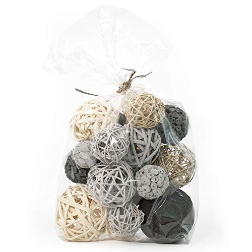 ANDALUCA Decorative Vase Filler Bag with Orbs, Balls (Grey)