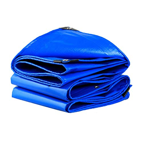 Qjifangfsh Tarpaulin Multifunctionele draagbare zonwering Waterdicht Outdoor Blauw 3m*3m