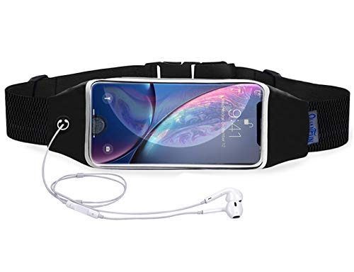 Running Belt Waist Pack for iPhone 8 Plus X / 6/6s 7 Plus, Fanny Pack Sports Running Belts Workout Fitness Holder Pouch with Extension Strap Cotton Wristband for Galaxy s8 s7 Plus and All Cell Phones