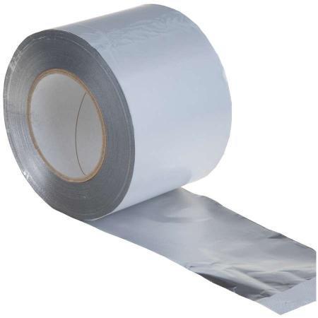 Aluminiumklebeband, 100mm x 100m B1 - wasserdichtes Alu-Klebeband zur Isolierung und Abdichtung
