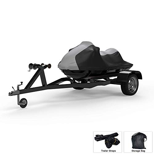 Best Review Of Weatherproof Jet Ski Covers for Yamaha EX Sport 2020 - Gray/Black Color - All Weather...