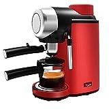 YFGQBCP cafetera 800W semiautomática del café y de la Pequeña Cafetera Espresso Machine Bundle con Leche vaporizador, Grafito metálico, Decoración de Acero Inoxidable for el hogar y la Oficina