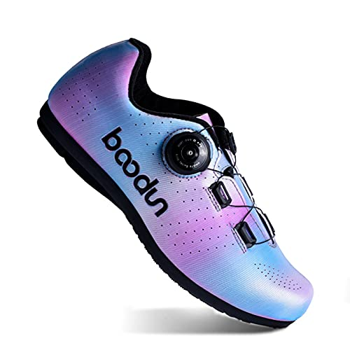 Womens Bicycle Shoes, Rotating Shoe Buckle Hard-sole Sports Cycling Shoes Non-locking Road-assisted Professional Cycling Shoes,36
