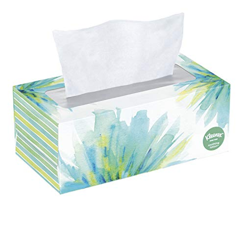 Kleenex Soothing Lotion Facial Tissues, 4 Flat Boxes, 110 Tissues Per Box (440 Tissues Total), Coconut Oil, Aloe & Vitamin...