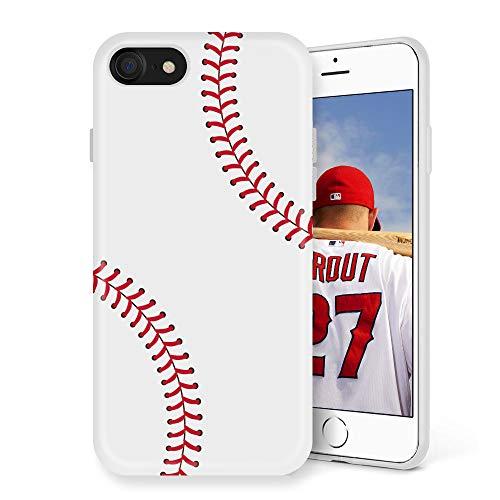 Litech Case for Apple iPhone SE (2020) / iPhone 7 / iPhone 8 [Flexfit] Premium Scratch-Resistant Cute Creative Artistic Design (Baseball)