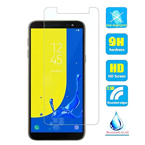 2pcs Clear Tempered Glass Crystal Screen Protector Film for Galaxy J4+ J4 Plus (2018) J415 SM-J415F/DS SM-J415FN/DS SM-J415G/DS J415GN 6.0