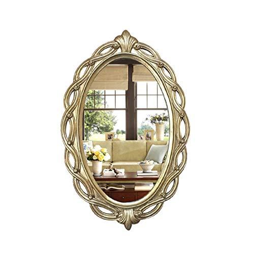 JJZI-L Mirado De Longitud Completa De La Pared, Retro Decorated Decorative Mirror Hotel Restaurante Impermeable Baño Espejo(Size:89 * 59CM,Color:B)