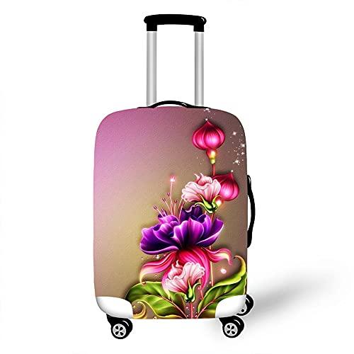 Morbuy 3D Flores Cubierta de Equipaje Protectora Lavable para Funda Maleta Elástico de Anti-Polvo para Maleta de Viaje Resistente a Los Arañazos (Flor de la Linterna,S)