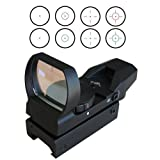IRON JIA'S 20mm Rail Tactical Multi Reticle 4 Red and Green Dot Sight Scope dovetail Red Dot Sight Mounts