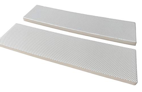 2Stk. Garagenwandschutz Weiß   Selbstklebend   Türschutz für Auto PKW KFZ Garage   400x100x15mm