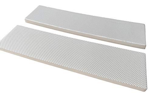 2Stk. Garagenwandschutz Weiß | Selbstklebend | Türschutz für Auto PKW KFZ Garage | 400x100x15mm