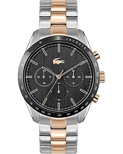 Lacoste Mens Chronograph Quartz Uhr mit Edelstahl Armband 2011112