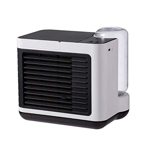 DSY Mini Refrigerador de Aire Portátil, Purificador de Humidificador de Iones Negativos, Ventilador de Refrigeración de Escritorio Recargable Usb Sala de Aire Acondicionado calentad