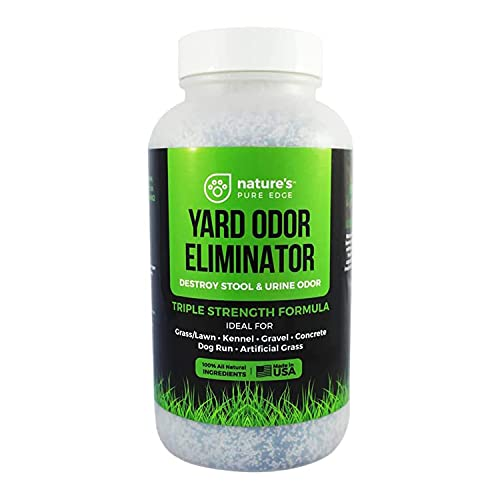 Nature's Pure Edge Yard Odor Eliminator. Perfect for Artificial Grass, Patio, Kennel, and Lawn. Instantly Removes Stool and Urine Odor. Long Lasting. Kid and Pet Safe.