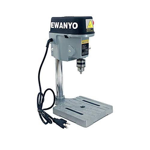 EWANYO 340W 3-Speed Mini Drill Press Bench, Mini Electric Bench Drill Press Stand Compact Portable Drill Press Workbench Metal Drilling Repair Tool Expanding Drilling Machine DIY Furniture Tool