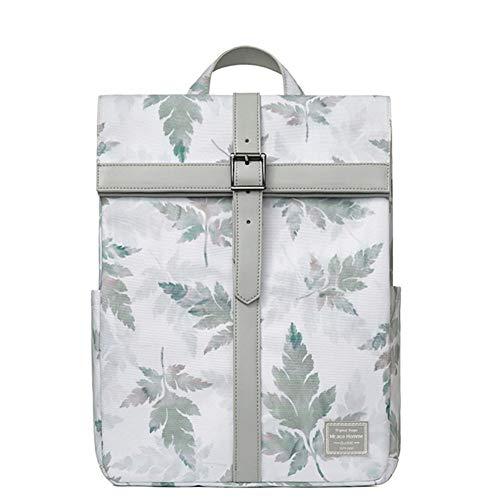Mochila profesional delgada de 14 pulgadas, mochila de viaje de moda casual de negocios para hombres mujeres, trabajo, MacBook, tableta, verde, verde (Verde) - nv41226