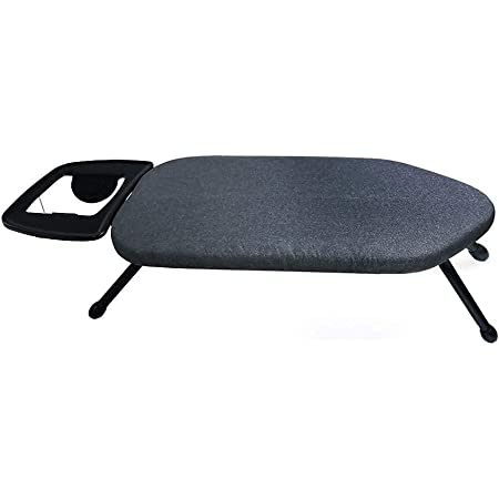Duwee Table Top Ironing Board 35x63cm, Foldable Desk Top Ironing Board with Thick Padded Cover,Black