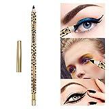 YHJGKO Schwarz Kajalstift, lang anhaltend wasserdichter Augen-Liner Pen leicht zu tragen Glatte...