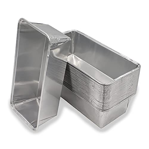 Mamatura 25 bandejas de aluminio para Weber Summit de aluminio, bandejas para barbacoa, forma de queso de hígado, 25...