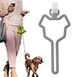 Gazaar Correa para perro bolsa de caca con manos libres, bolsa de desechos, bolsa portadora, nudo y bolsa de caca de perro, clip para sostener bolsa de popa, soporte de manos libres para bolsas