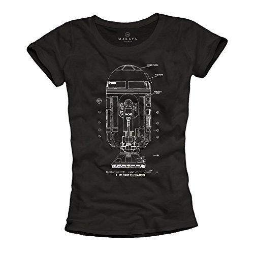 Camisetas Geek Mujer - Big Bang Theory - Negras M