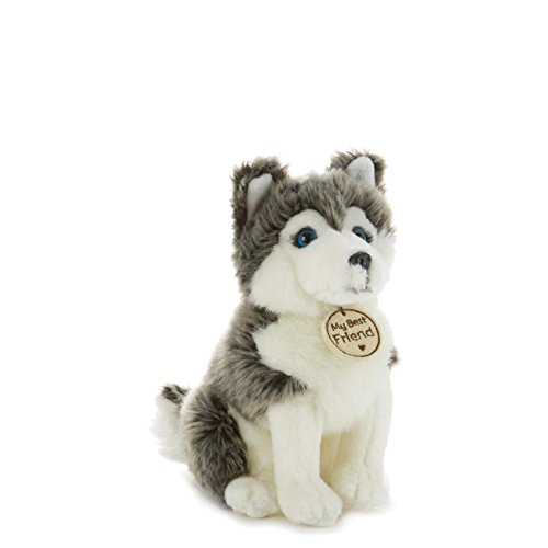 Hallmark My Best Friend Small Gray and White Sled Dog Plush Stuffed Animal