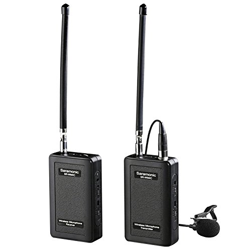 Micrófono de solapa inalámbrico, Saramonic SR-WM4C Sistema de micrófono de solapa VHF...