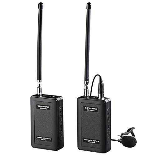 Saramonic SR-WM4C 4-kanaals Revers Mic System Wireless Lavalier microfoon voor DSLR camera Canon Nikon Sony Panasonic DV-Camcorder Audio Recorder