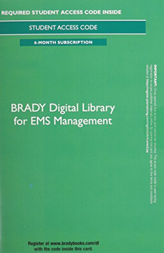 Brady Digital Library for Ems Management 6 Month Access Card