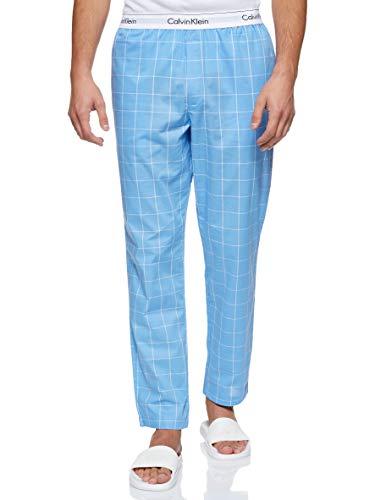 Calvin Klein Sleep Pant Pantalones de Pijama, Azul (Modern Window/Blue Bay Wn6), Small para Hombre