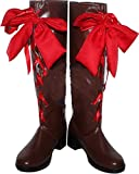 MINGCHUAN Whirl Cosplay Boots Shoes for Black Butler Alois Trancy Long