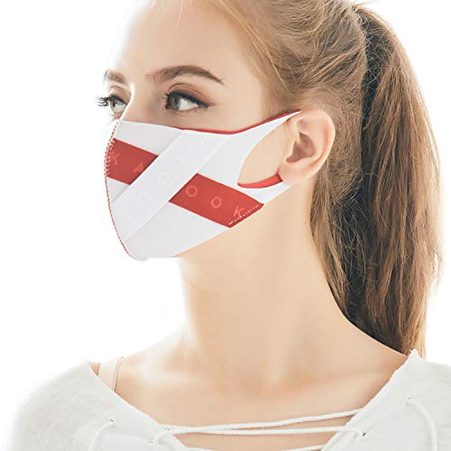LOOKA | Protective Fashion Face Mask | Breathable | Washable and Reusable | X-Band White SMALL (Small)