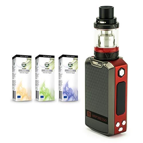 Vaporesso Tarot Nano, 80 W, 2500 mAh + 3 x 10 ml SC Liquid (nikotinfrei) E-Zigarette/E-Shisha (rot)