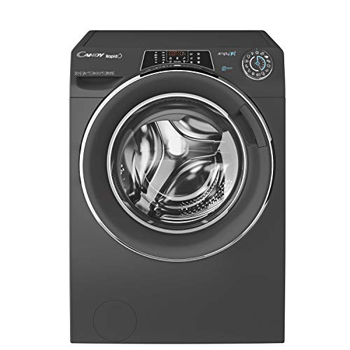 Candy RO16106DWHC7G Freestanding Rapido Washing Machine, WiFi Connected, 10kg Load, 1600rpm, Graphite