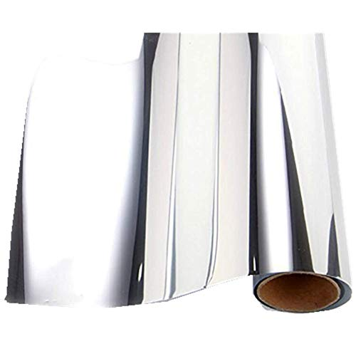 REDODECO Self-Adhesive Reflective Chrome Silver Vinyl Wrap Sticker Decal Film Sheet 12inch by 60inch