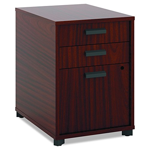 HON Manage Pedestal File - 2 Pencil Drawers with 1 File Drawer, 15-3/4'W, Chestnut (HMNG15PED)