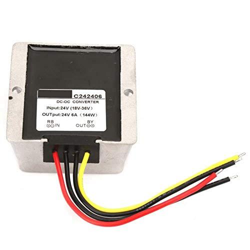 Regulador de voltaje de durabilidad Calidad Premium Boost/Buck Regulador de voltaje Auto Step Up/Down Converter para equipos eléctricos industriales/vehículos (6A)